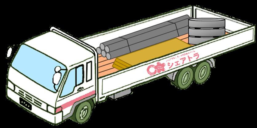 混載便トラックイラスト